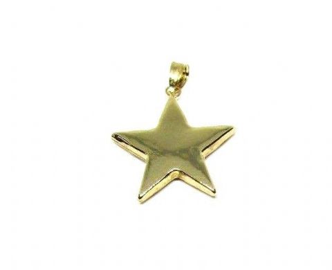 9ct Yellow Gold Plain Polished Large Star Pendant                          3553